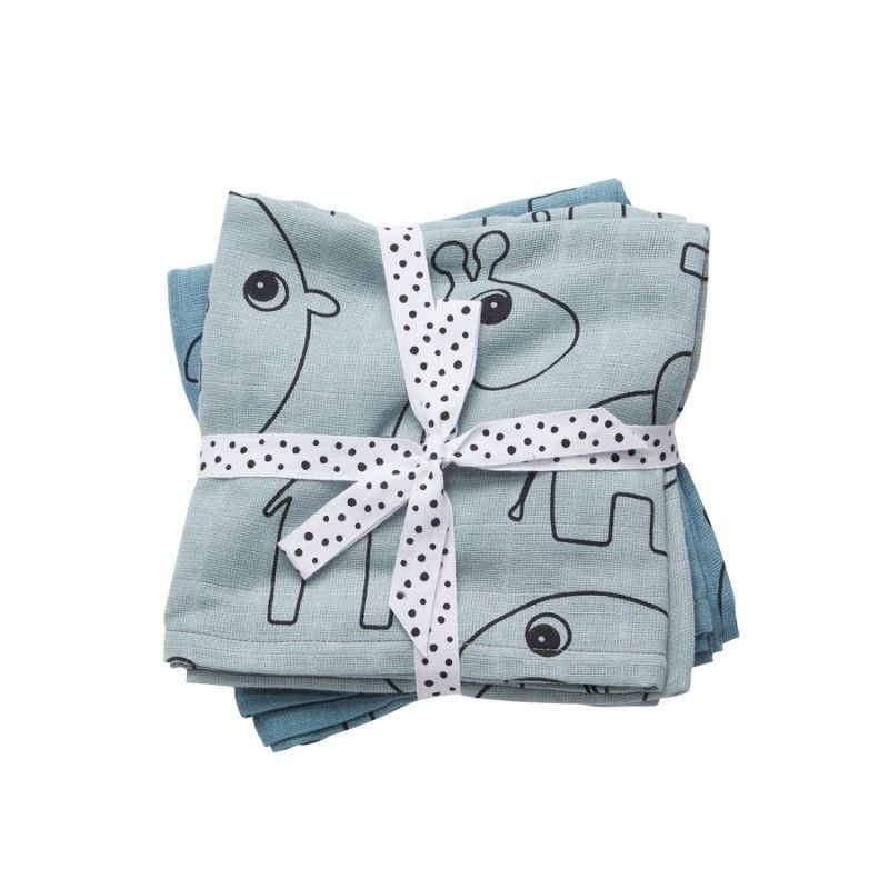 Muselina Burp Cloth 2-pack Done By Deer blue